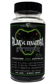 """Black Mamba Hyperush Ephedra. Do you wanna drop fat as fast as a snake bite?  There has never been a better time than NOW to put your fat loss journey into overdrive.  Innovative Bio-Laboratories is here to help you become a healthier and fitter you with Black Mamba!  Black Mamba is one of the few fat burners that has stood the test of time, with results and reviews to back it up!  Innovative Bio-Laboratories has designed Black Mamba with their """"Hardcore AAA Complex"""", focusing on providing…"""