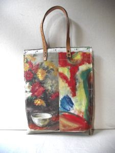 A series of unique, leather handled carry bags made by hand using vintage oil paintings sourced exclusively from markets in Holland and Belgium.