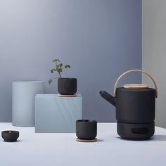 Theo - Theière en grès et bambou 1,25 L