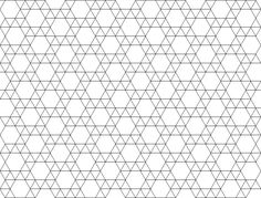 Shapes that tessellate - hexagons and triangles grids