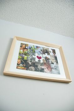 DIY re-purposed puzzle turned into photo collage!