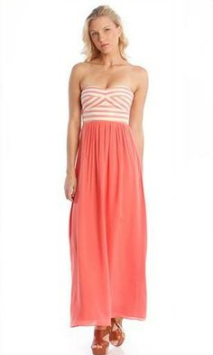 Hutch Strapless Maxi Combo Dress by Hutch | punchboutique.com