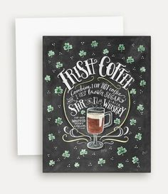 Irish coffee is our drink of choice for celebrating Irish blessings that come our way!
