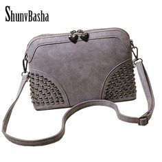 Vintage Lady Messenger Bag handbags woman Leather handbag motorcycle bags Women Rivet bag *** Find out more about the great product at the image link.