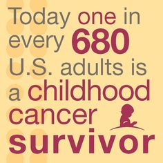 One in every 680 U.S. adults is a childhood cancer survivor.
