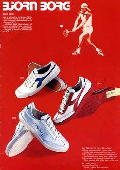Diadora for Björn Borg Tennis Fashion, 80s Fashion, Vintage Tennis, Retro Vintage, Tennis Sneakers, Adidas Sneakers, Diadora Sneakers, Best Ads, Ellesse