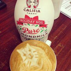 This holiday nog latte via @Travis Utke is the cat's meow. #califiafarms #holidaynog #fangram #celebrateremarkably