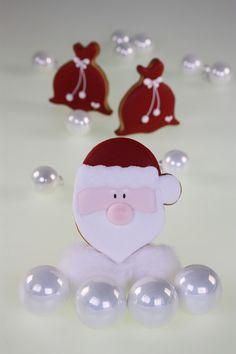 """Decorated Cookies - Santa Claus -  Kekse """"Weihnachts-Vorboten"""" Weihnachtsmann Santa - ein Designerstück von Zuckermariechen bei DaWanda"""