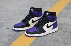 Air Jordan 1 Retro High Court Purple - Source by - Nike Air Jordans, Jordans Girls, Nike Air Max, Retro Jordans, Jordan Shoes Girls, Air Jordan Shoes, Girls Shoes, Boy Shoes, Best Jordan Shoes