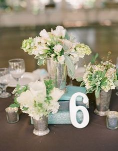 REVEL: Centerpiece Inspiration (but with gold mercury glass)