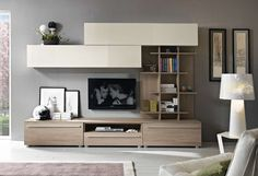 TV Unit Design Inspiration is a part of our furniture design inspiration series. Living Room Wall Units, Living Room Tv Unit Designs, Ikea Living Room, Interior Design Living Room, Living Rooms, Tv Unit Interior Design, Modern Tv Wall Units, Tv Unit Decor, Design Inspiration