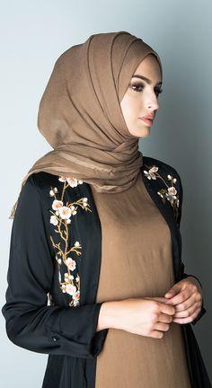 Cuban Coffee Chiffon Silk Hijab