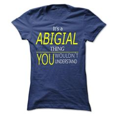 ABIGAIL, Its Wolf Thing, you wouldnt thing - #hoodie scarf #hoodie novios. ADD TO CART => https://www.sunfrog.com/Names/ABIGAIL-Its-Wolf-Thing-you-wouldnt-thing-Ladies.html?68278