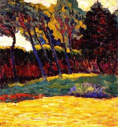 Green Trees, Alexei Jawlensky - 1906  Not sure why but just LOVE this. Never heard of this artist but will have to do some homework.