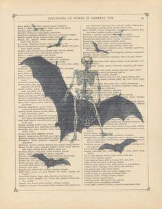 Death Rides A Black Bat by Verbum Vintage