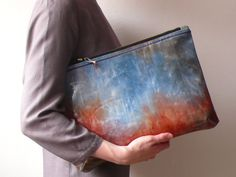 oversize glossy colourful zipper clutch van Aplauz op Etsy