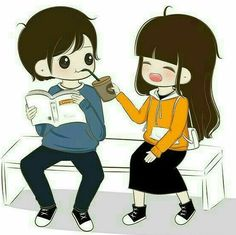 Love Cartoon Couple, Cute Love Cartoons, Anime Classroom, Love Images With Name, Cute Couple Drawings, Cute Couple Wallpaper, Love You Babe, Romantic Gif, Couple Illustration