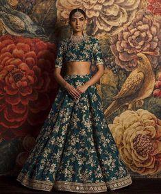 Banglory silk wedding lehenga