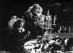 A scene from 'The beauty and the beast' by Jean Cocteau