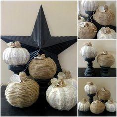 DIY book page and twine pumpkins DIY Fall Crafts DIY Halloween Decor
