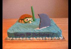 Super cute shark cake!
