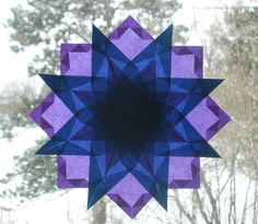 Blue and Purple Window Star Waldorf by harvestmoonbyhand on Etsy, $15.00