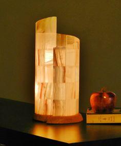 Natural Stone Onyx/alabaster Orange Table Lamp unique rectangle ...