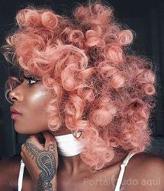 Blorange hair!! Mais lindo ainda nos cabelos cacheados!!