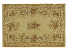kathy ireland Home Amour Area Rug | With an elegant rounded appearance and a rose motif over a rich stone background, this area rug will grace your living space with a touch of European tradition.