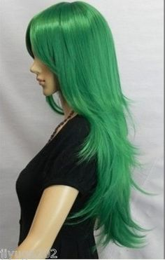 New Listings Have to New Long Vertical Green Wig | eBay
