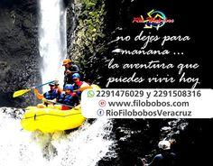 No dejes para mañana la #aventura que puedes vivir el día de hoy en #filobobos #FelizLunes http://www.filobobos.com https://www.facebook.com/RioFilobobosVeracruz/