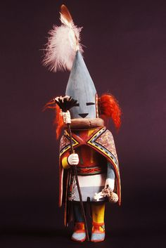 Hopi Bean Dance Kachina doll, E688, Museum of Northern Arizona, Flagstaff, Arizona