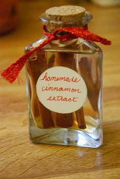 Homemade Vanilla and Cinnamon Extracts