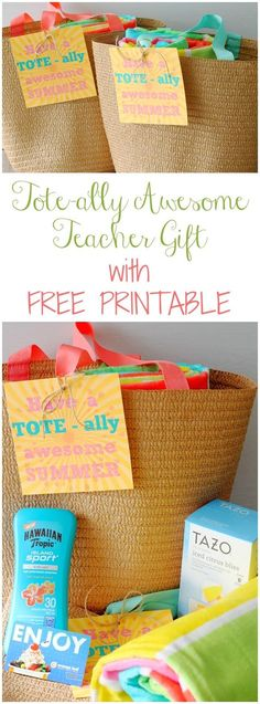 Totally Awesome Teacher Gift Free Printable by Foodtastic Mom