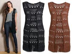 LIQUIDAÇÃO ✂️ DE OUTONO  Colete alongado em tricô. De R$ 119 por R$ 109