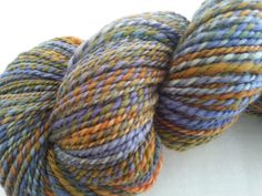 Handspun, 100% BFL, DK weight, 220 yds,  Autumn Eve by LollipopAcresFiber on Etsy