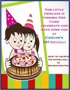10 best printable 1st birthday invitation templates images first