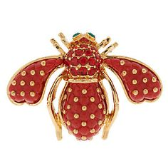 Joan Rivers Quilted Bee Pin