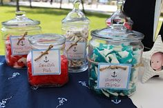 candy in jars, Want to do a candy/chocolate bar, possibly from Carmel