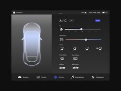 Car control UI by Sandee Usanachitt on Dribbble Dashboard App, Digital Dashboard, Dashboard Design, Auto Ui, Slider Ui, Web Design, Design Thinking, Car App, Ui Patterns