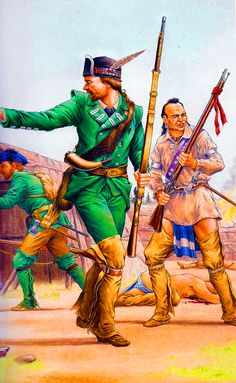 Roger's Rangers raiding an Indian encampment during the French and Indian War