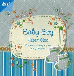 *Baby Boy Paper bloc*Motivpapier*160gr*Kartengestaltung*Scrapbooking*Papier*