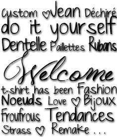 Custom. Jean Déchirés. Tendances. Dentelle. Paillettes. Rubans. Do It Yourself. Clous. Couture. t-shirt has been. Boutons. Fashion. Noeuds. Love. Bijoux WELCOME