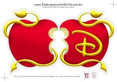 Invitación para Fiesta de Descendientes con forma de Manzana.
