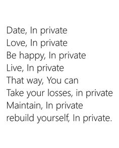Keep your dating life private
