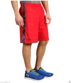 MEN S SIZE LARGE UNDER ARMOUR SHORTS RED MICRO PRINT LOOSE  UnderArmour   Athletic e0895a0bc3e0d