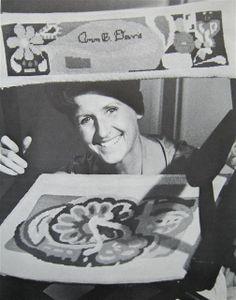 Celebrity Needlepoint - Ann B. Davis (Alice the housekeeper on The Brady Bunch)