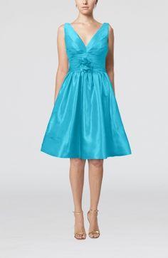 Hawaiian A-line Sleeveless Zipper Knee Length Bridesmaid Dresses