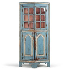 American Chippendale Painted Antique Corner Cupboard Cabinet,... ($3,990) ❤ liked on Polyvore featuring home, furniture, storage & shelves and cabinets