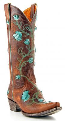 Womens Old Gringo Abby Rose Boots Brown Volcano #L664-2